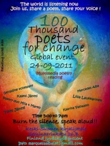 100 Thousand Poets for Change, Finland